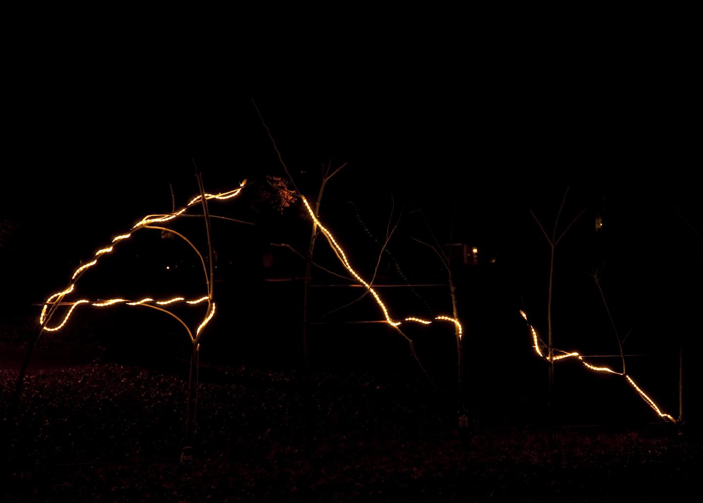 Three illuminated